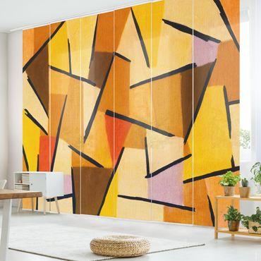 Schiebegardinen Set - Paul Klee - Harmonisierter Kampf - Flächenvorhänge