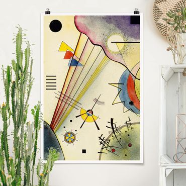 Poster - Wassily Kandinsky - Deutliche Verbindung - Hochformat 3:2