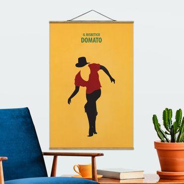 Stoffbild mit Posterleisten - Filmposter Il Bisbetico Domato - Hochformat 3:2