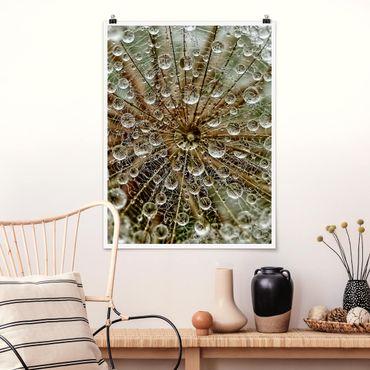 Poster - Pusteblume im Herbst - Hochformat 3:4