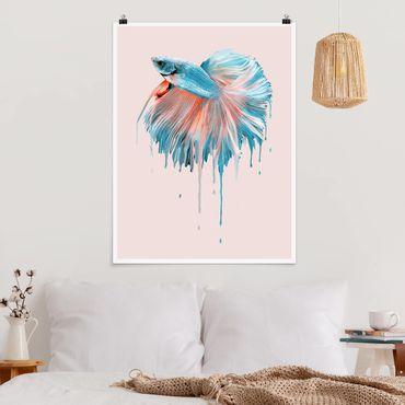 Poster - Jonas Loose - Schmelzender Fisch - Hochformat 3:4