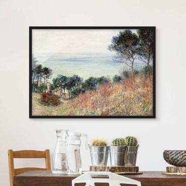 Bild mit Rahmen - Claude Monet - Küste Varengeville - Querformat 3:4