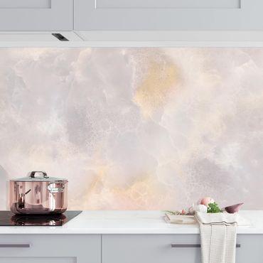 Küchenrückwand - Onyx Marmor Grau