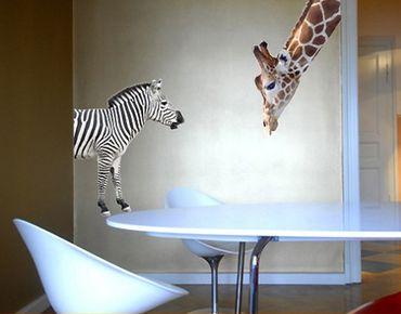 Wandtattoo Giraffe No.307 Giraffe+Zebra