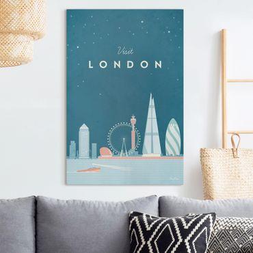 Leinwandbild - Reiseposter - London - Hochformat 3:2