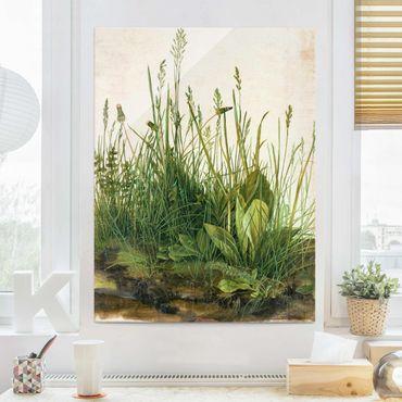 Glasbild - Albrecht Dürer - Das große Rasenstück - Hochformat 4:3