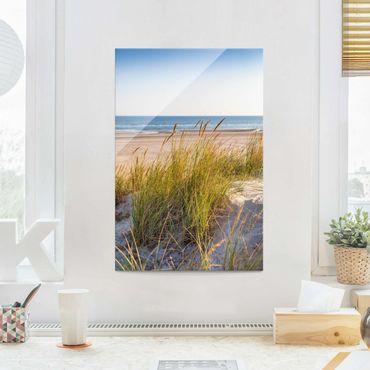 Glasbild - Stranddüne am Meer - Hochformat 3:2