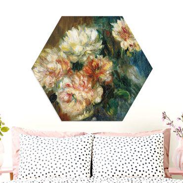 Hexagon Bild Forex - Auguste Renoir - Vase Pfingstrosen