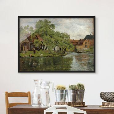 Bild mit Rahmen - Edvard Munch - Fluss Akerselven - Querformat 3:4