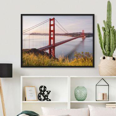 Bild mit Rahmen - Golden Gate Bridge in San Francisco - Querformat 3:4
