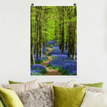 Poster - Wanderweg in Hertfordshire - Hochformat 3:2
