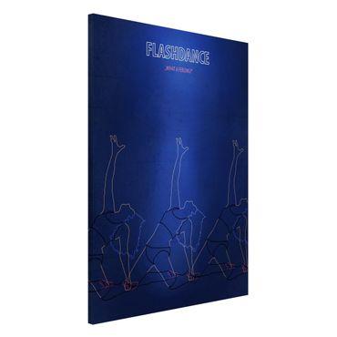 Magnettafel - Filmposter Flashdance - Memoboard Hochformat 3:2