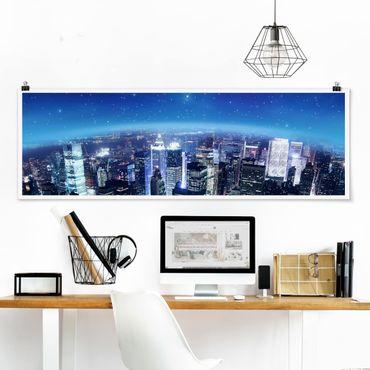 Poster - Illuminated New York - Panorama Querformat