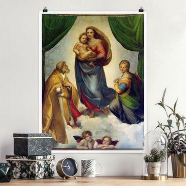 Poster - Raffael - Die Sixtinische Madonna - Hochformat 3:4