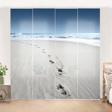 Schiebegardinen Set - Spuren im Sand - Flächenvorhänge