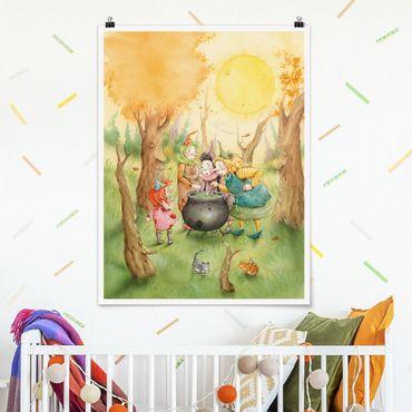 Poster - Frida beim Hexentreffen - Hochformat 3:4