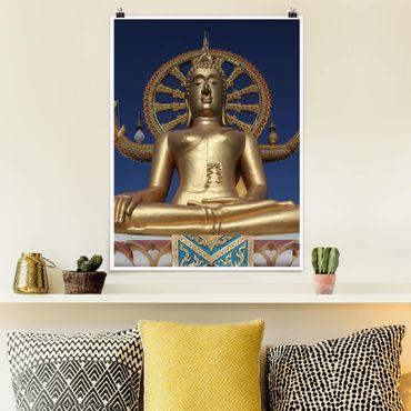 Poster - Big Golden Buddha - Hochformat 3:4