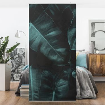 Raumteiler - Dschungel Blätter Dunkelgrün - 250x120cm