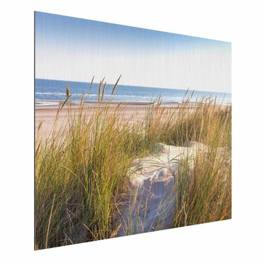 Aluminium Print gebürstet - Stranddüne am Meer - Querformat 3:4