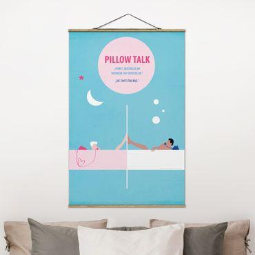 Stoffbild mit Posterleisten - Filmposter Pillowtalk - Hochformat 3:2