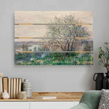 Holzbild - Claude Monet - Frühlingsstimmung - Querformat 2:3