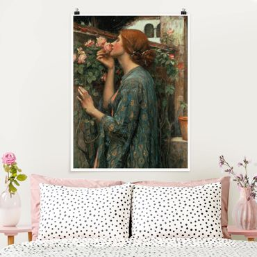 Poster - John William Waterhouse - Die Seele der Rose - Hochformat 3:4