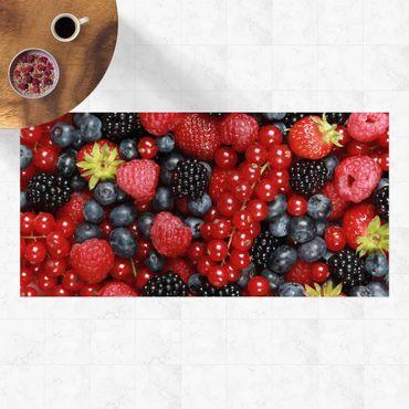 Vinyl-Teppich - Fruchtige Waldbeeren - Querformat 2:1