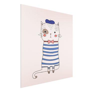 Forex Fine Art Print - Katze in Frankreich - Quadrat 1:1