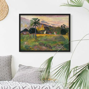 Bild mit Rahmen - Paul Gauguin - Komm her - Querformat 3:4