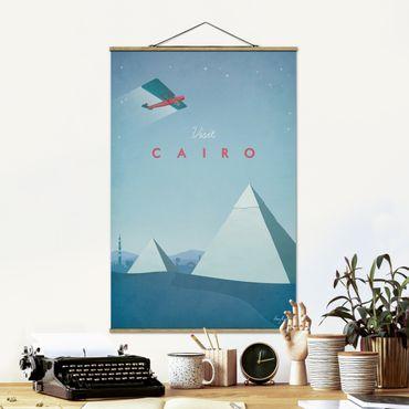 Stoffbild mit Posterleisten - Reiseposter - Cairo - Hochformat 3:2