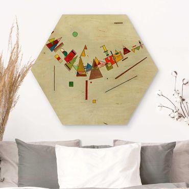 Hexagon Bild Holz - Wassily Kandinsky - Winkelschwung