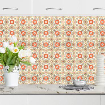 Küchenrückwand - Orientalisches Muster mit bunten Kacheln