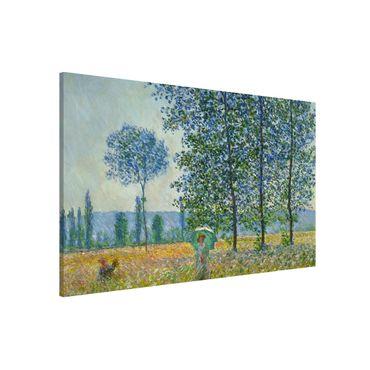 Magnettafel - Claude Monet - Felder im Frühling - Memoboard Querformat 2:3