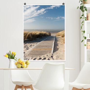 Poster - Ostsee Strand - Hochformat 3:4
