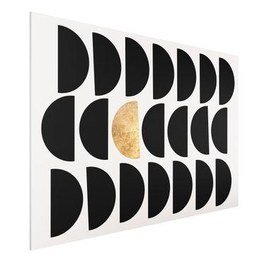 Forex Fine Art Print - Geometrischer Halbkreis II - Querformat 2:3