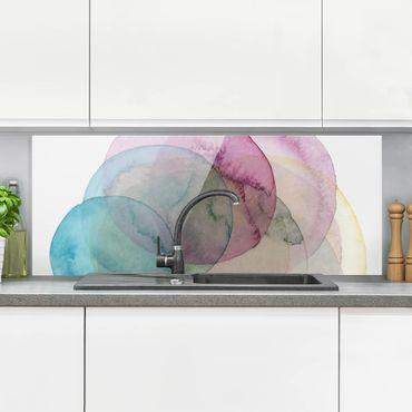 Spritzschutz Glas - Urknall - rosa - Panorama - 5:2