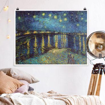 Poster - Vincent van Gogh - Sternennacht über der Rhône - Querformat 3:4