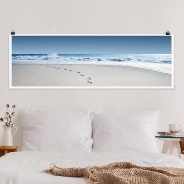 Poster - Spuren im Sand - Panorama Querformat