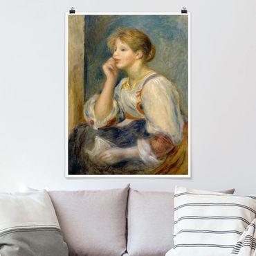 Poster - Auguste Renoir - Junges Mädchen mit Brief - Hochformat 3:4