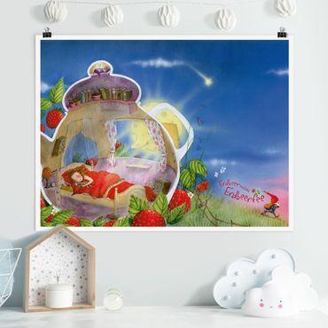 Poster - Erdbeerinchen Erdbeerfee - Schlaf gut! - Querformat 3:4