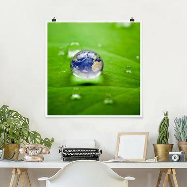 Poster - Save the Planet - Quadrat 1:1