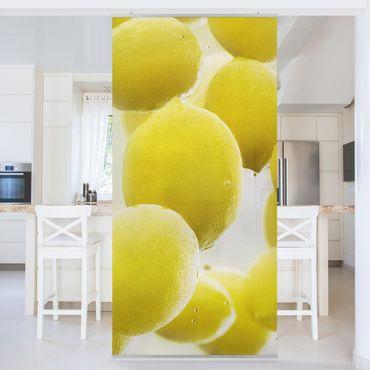 Raumteiler - Zitronen im Wasser 250x120cm