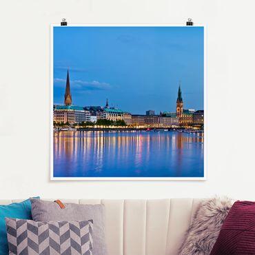 Poster - Hamburg Skyline - Quadrat 1:1