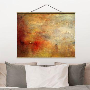 Stoffbild mit Posterleisten - Joseph Mallord William Turner - Sonnenuntergang über einem See - Querformat 4:3