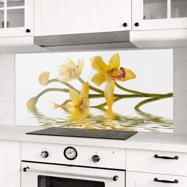 Spritzschutz Glas - Saffron Orchid Waters - Panorama - 5:2