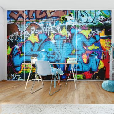 Schiebegardinen Set - Colours of Graffiti - Flächenvorhänge