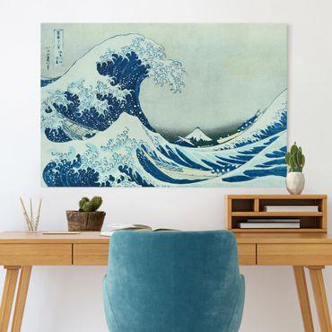 Leinwandbild - Katsushika Hokusai - Die grosse Welle von Kanagawa - Querformat 2:3