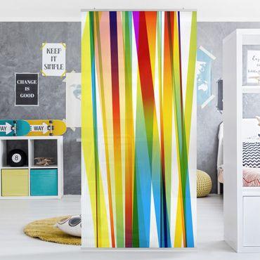 Raumteiler Kinderzimmer - Rainbow Stripes 250x120cm