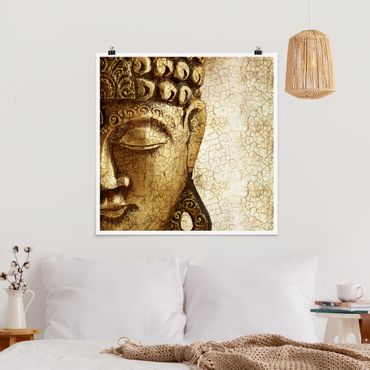 Poster - Vintage Buddha - Quadrat 1:1