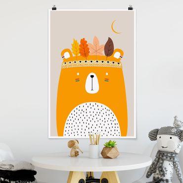 Poster - Indianerbär - Hochformat 3:2
